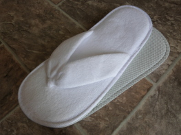 Blue Box Socks - Velvet Cotton Velour Thong Slippers (Flip Flop Style)