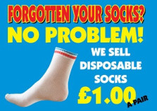 Blue Box Socks - Disposable Play Centre Socks Poster