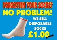 Blue Box Socks - Disposable Play Centre Socks Poster